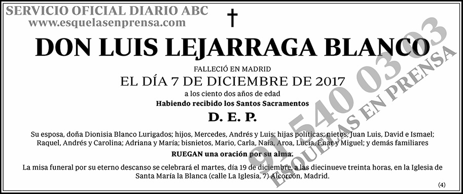 Luis Lejarraga Blanco
